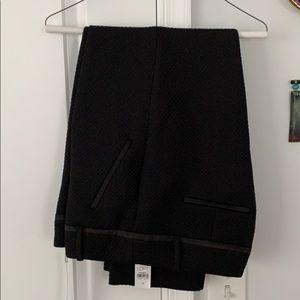 Black patterned cropped ankle pants. Sz 12